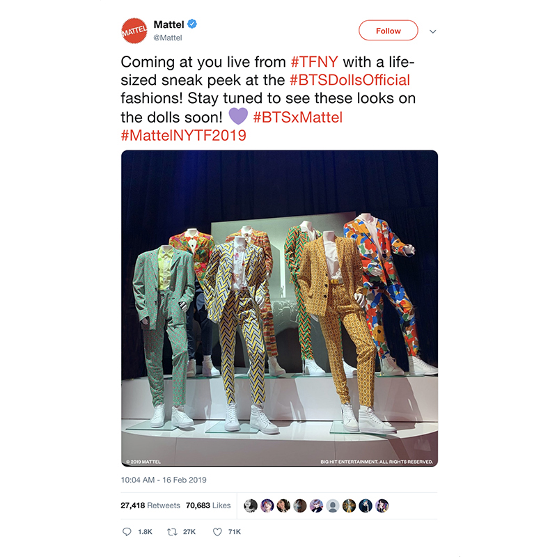 BTS Mattel Toy Fair